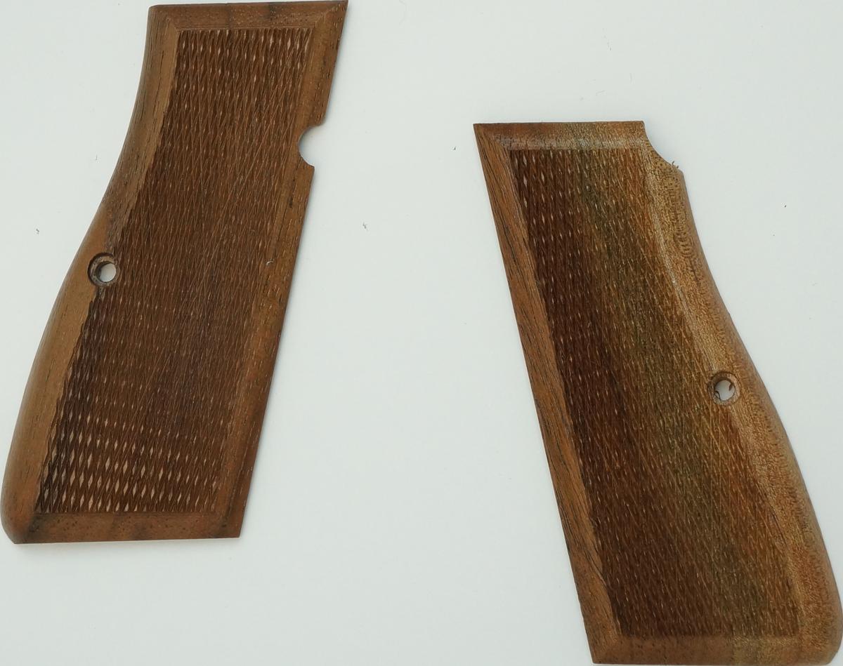 ブローニング・ハイパワー M1935 アメリカンウォールナットチェッカーグリップ