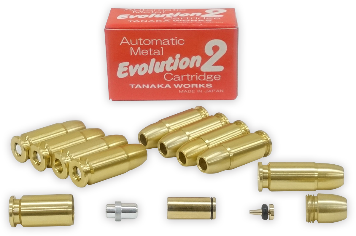 オートマチック・メタル・Evolution2(エボリューション2)カートリッジ 9mm  オートマチックモデルガン共用 10発セット