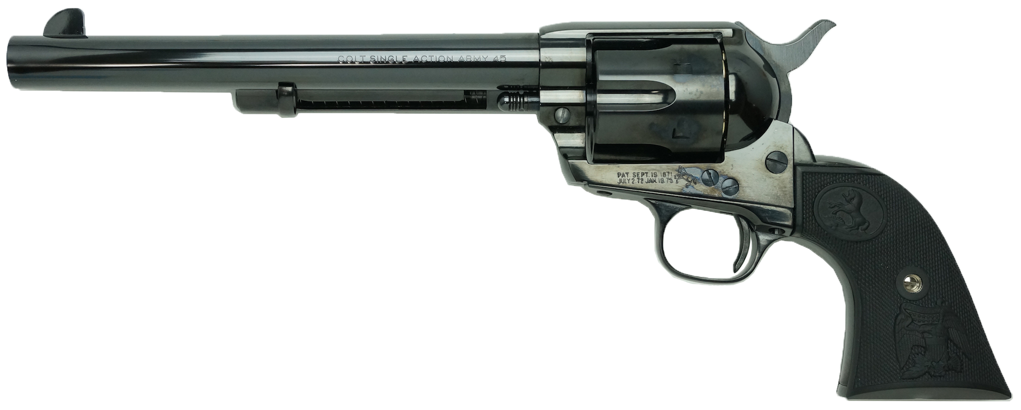 Colt S.A.A.45 7-1/2inch Cavalry(2nd)デタッチャブル・シリンダー スチール・フィニッシュ (ガスガン)